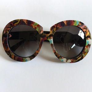 Valentino round butterfly print sunglasses